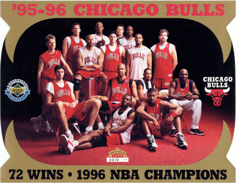 chicago bulls 72 wins 95 96 sezon